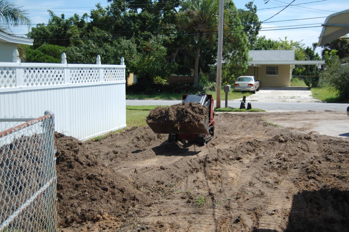 grading excavating trenching services