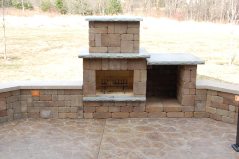 Cook Area Fire Place Sitting Walls